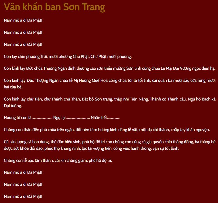 Van Khan Son Trang