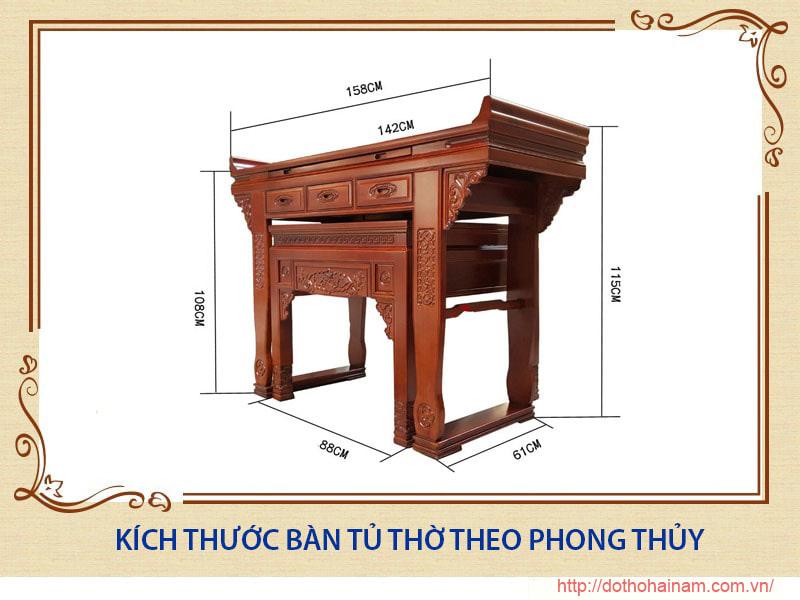 Kich Thuoc Ban Tho Theo Phong Thuy 1
