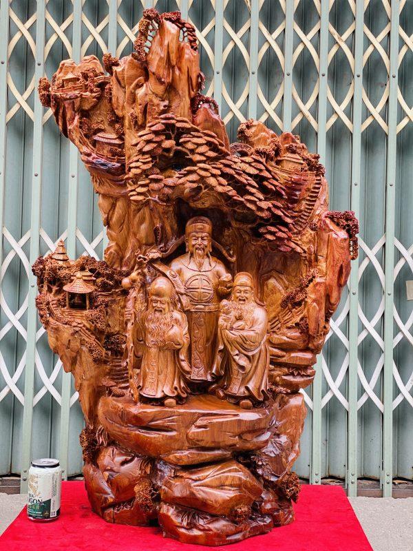 Tam Da Dưới Tán Tùng Gỗ Hương Ta Cao 105cm 1 600x800
