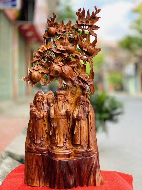 Tượng Tam Da Gốc Dào Gỗ Hương Ta Cao 105cm 1 600x800